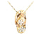 Yellow Gold Tri-color YG/PG/WG Slipper(Flip Flop) Pendant(S, M, L) - Hanalei Jeweler