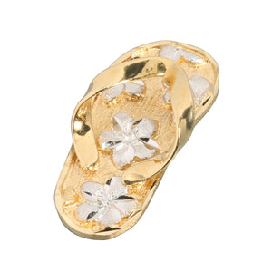 Yellow Gold Two Tone Slipper(Flip Flop) Pendant(S, M, L)