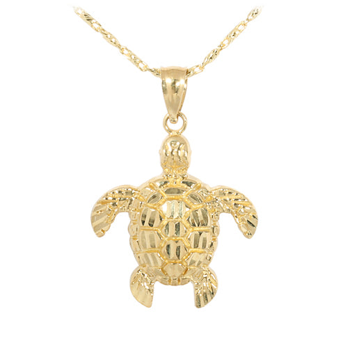 Yellow Gold Turtle Pendant(M)
