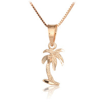 14K Pink Gold Palm Tree Pendant