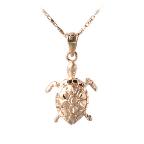 14K Rose Gold Turtle Pendant(M) - Hanalei Jeweler