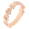 14K Rose Gold Plumeria Lei Ring with High Polish Edge 5mm - Hanalei Jeweler