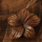 40mm Koa Wood Hibiscus Flower Necklace