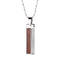 Koa Wood Titanium Vertical Pendant with CZs Inlaid(Chain Sold Separately) - Hanalei Jeweler