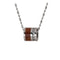 Titanium Koa Wood Cubic Zirconia Barrel Pendant 10mm - Hanalei Jeweler