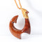 45x63mm Hand-made Koa Wood Fish Hook Necklace
