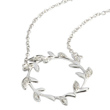 0.09 ct. t.w. Diamond Necklace in Solid 14K White Gold Maile Leaf - Hanalei Jeweler