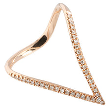 0.12 ct. t.w.  Diamond Ring in Solid 14K Pink Gold Water Drop - Hanalei Jeweler