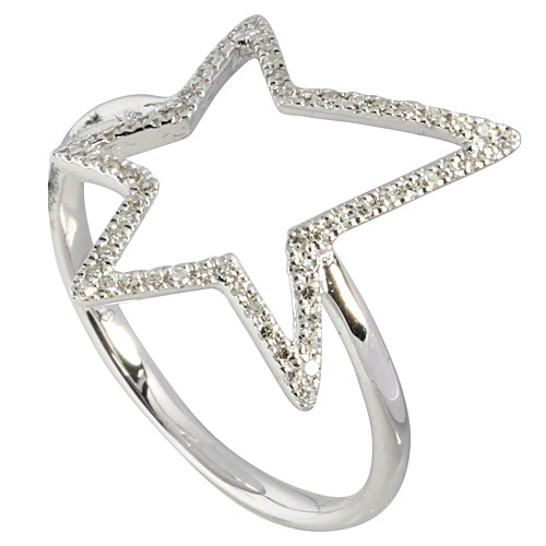 0.17 ct. t.w.  Diamond Ring in Solid 14K white Gold Star - Hanalei Jeweler