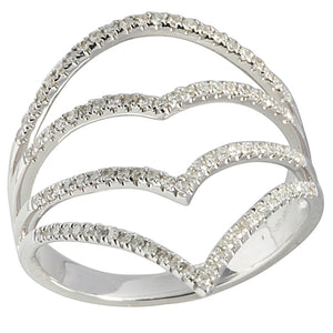 0.29 ct. t.w.  Diamond Ring in Solid 14K White Gold Crown - Hanalei Jeweler