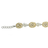14K Yellow Gold Plated Sterling Silver Hawaiian Pineapple Bracelet - Hanalei Jeweler