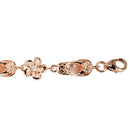 Sterling Silver Slipper Plumeria Bracelet Pink Gold Plated 8mm - Hanalei Jeweler