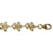 Yellow Gold Plated 8mm Plumeria Bracelet Prong Setting CZ - Hanalei Jeweler