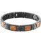 Koa Wood Inlay Bracelet Iron Plated Black - Hanalei Jeweler