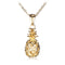 Yellow Gold Plated Sterling Silver Pinapple Pendant(Chain Sold Separately) - Hanalei Jeweler