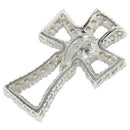 Sterling Silver CZ Cross Pendant 26 x 41mm - Hanalei Jeweler