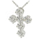Sterling Silver CZ Cross Pendant 27 x 36mm - Hanalei Jeweler