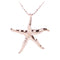 Pink Gold Plated Sterling Silver Starfish Pendant(M) - Hanalei Jeweler
