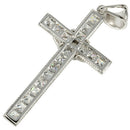 Sterling Silver Rhodium CZ with Jesus Pendant - Hanalei Jeweler