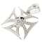 Sterling Silver CZ Inlay Square Cross with Skull Pendant - Hanalei Jeweler