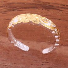 4mm Hawaiian Scroll Two Tone Yellow Gold Plated Cut Out Edge Toe Ring - Hanalei Jeweler