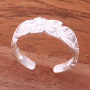 6mm Hawaiian Scroll Cut Out Edge Toe Ring - Hanalei Jeweler