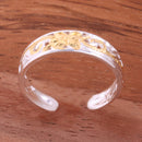 6mm Hawaiian Scroll Two Tone Yellow Gold Plated See Through Toe Ring - Hanalei Jeweler