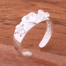 6mm Plumeria and Heart Toe Ring - Hanalei Jeweler