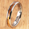 4mm Natural Hawaiian Koa Wood Inlaid Tungsten Oval Wedding Ring - Hanalei Jeweler