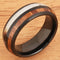 Koa Wood Ring  Antler Style Black Tungsten Wedding Ring 8mm Barrel Shape - Hanalei Jeweler