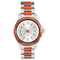 Koa Wood Stainless Steel Mechanical Watch White Color Dial - Makani Hawaii Jeweler