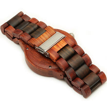 Red/Chocolate Sandalwood Watch Large Size Japan Movement