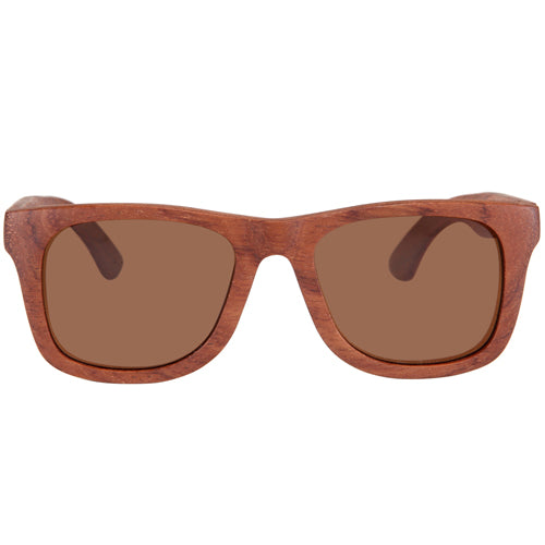 Rosewood Sunglasses Rectangle Frame with nose - Hanalei Jeweler