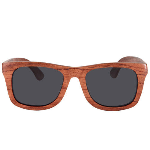 32800ac667bd9 Rosewood Wooden Sunglasses Rectangle Frame with nose Brown Lens ...