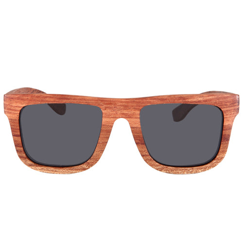 35ce961b0d850 Classic Rosewood Wooden Sunglasses Rectangle Frame Flat Brown Lens ...