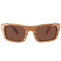 Zebrawood Sunglasses Rectangle Dome Frame