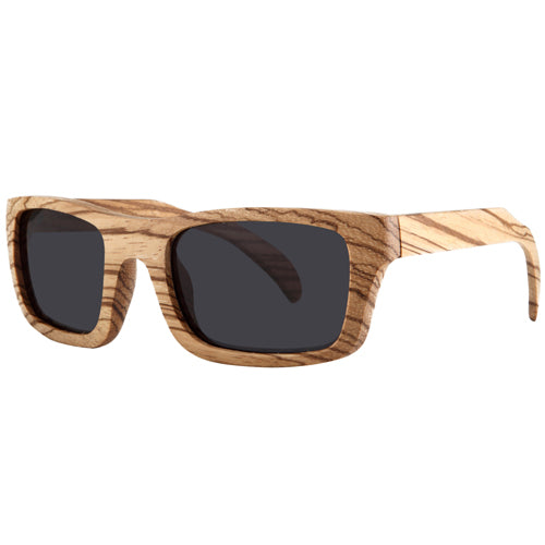 Zebrawood Sunglasses Rectangle Dome Frame - Hanalei Jeweler