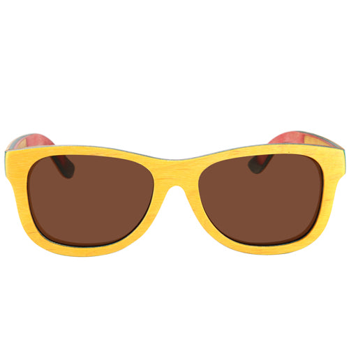 Skateboard Wood Yellow Color Sunglasses - Hanalei Jeweler