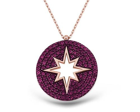 Swarovski Purple Polar Star Necklace