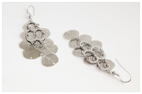 Dangling Silver Plated Earring