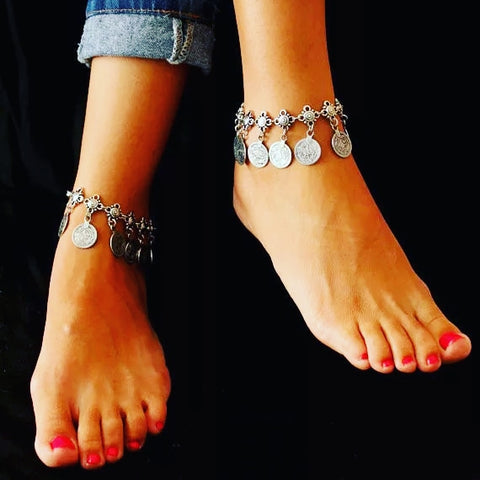Boho Style Coin Anklet