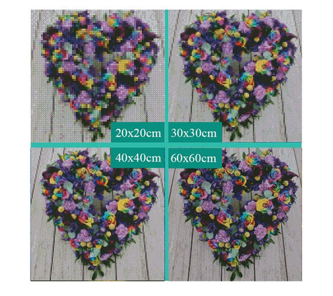 "5D Diamond Painting ""Love Wreath"""