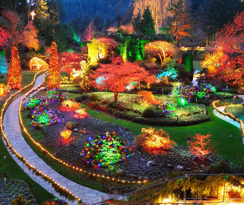 Image of 5D Diamond Painting Beautiful Garden in Canada
