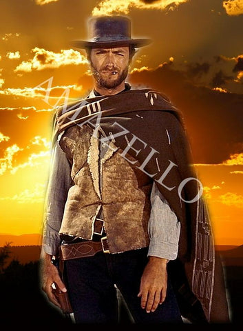 Image of 5D Diamond Painting Clint Eastwood Fan Art **exclusive collection**