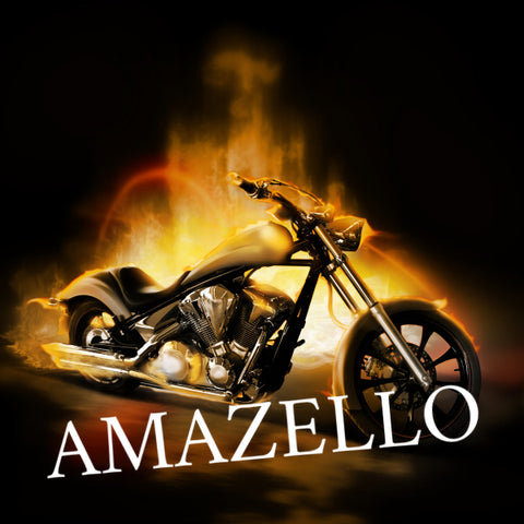 Image of 5D Diamond Painting Flaming Motorcycle **Exclusive Collection**