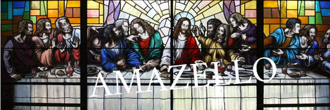 Image of 5D Diamond Painting Last Supper Stained Glass **exclusive collection**