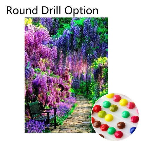 5D Diamond Painting Beautiful Tree Lane Path