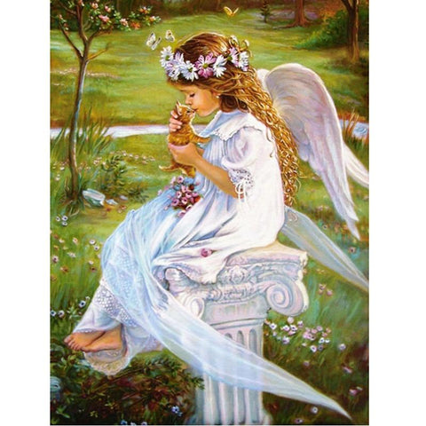 Image of 5D Diamond Painting A Sweet Angel Child