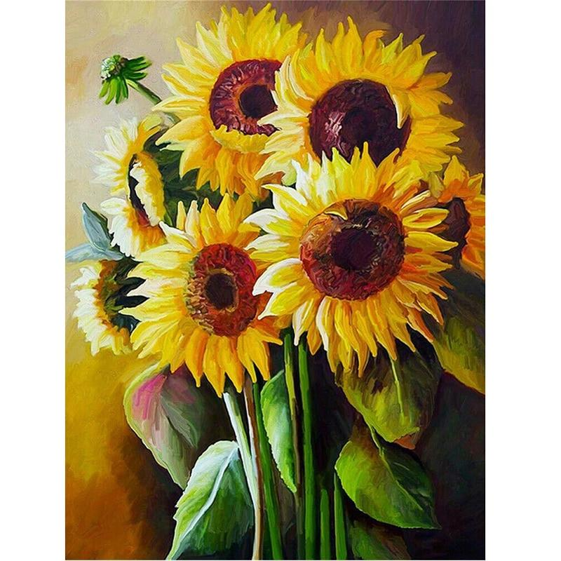 5D Diamond Painting Lovely Sunflower