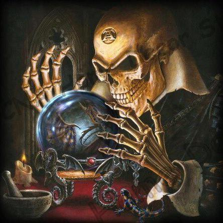 5D Diamond Painting Skull Psychic